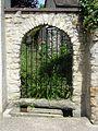 Vétheuil (95), rue du Moutier, clôture du ruisseau.JPG