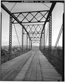 VIEW LOOKING SOUTH THROUGH SUPERSTRUCTURE - Owl Creek Bridge, County Road 287, Thermopolis, Hot Springs County, WY HAER WYO,9-THERM.V,2-3.tif