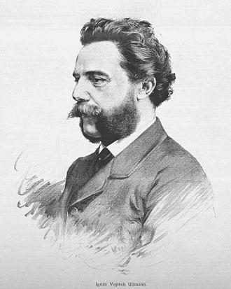 Vojtěch Ignác Ullmann - drawing by Jan Vilímek, 1887