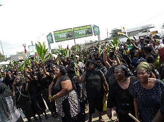 Protests against Faure Gnassingbé - Member of the National Alliance for Change protesting the government in 2013