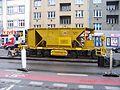 V olšinách, rekonstrukce tramvajové trati, vůz z DPML (01).jpg
