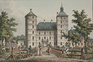 Vallø Castle - Vallø in 1839