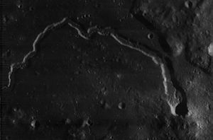Schroter's Valley - Lunar Orbiter 4 image (north at top)
