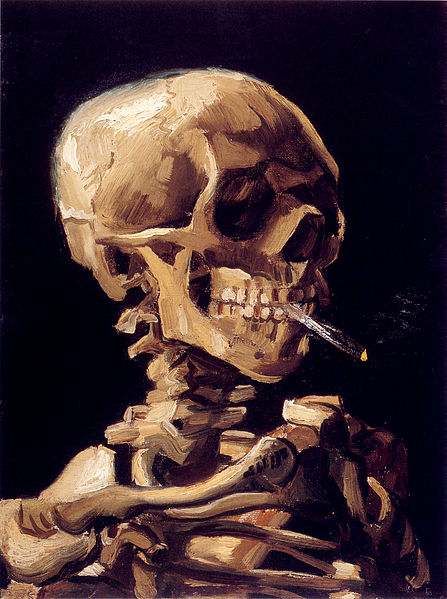 File:Van Gogh - Skull with a burning cigarette.jpg