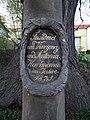 Velké Popovice, nápis na sloupu se sochu sv. Jana Nepomuckého.jpg