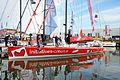 Vendée Globe 2012-2013 Tanguy de Lamotte Initiatives-cœur bateau à quai.JPG