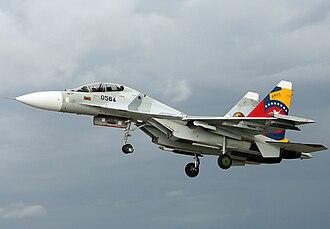 Venezuelan Air Force - A  Sukhoi SU-30  lift off