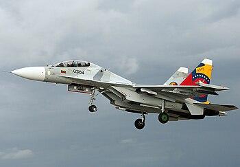 Gobierno (interino) de Juan Guaidó - Página 13 350px-Venezuelan_Air_Force_Sukhoi_SU-30MK2_AADPR