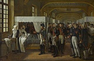 Napoléon visitant l'infirmerie des Invalides, 11 février 1808
