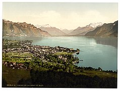 Vevey, and Dent du Midi, Geneva Lake, Switzerland-LCCN2001702456.jpg