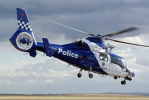 Police aviation - A Eurocopter AS365 N3 Dauphin 2 of the Victoria Police Air Wing.