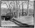 View east, west end - Albion Bridge, School Street, Spanning Blackstone River, Cumberland, Providence County, RI HAER RI,4-CUMB,4-2.tif