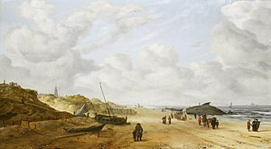 Hendrick van Anthonissen - Image: View of Scheveningen sands, by Hendrick van Anthonissen