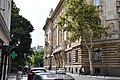 View of headquarters of the Hungarian National Bank from Bank utca.jpg