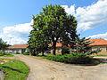 Village square in Račice, Třebíč District.JPG