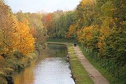 Le canal de l'Ourcq.
