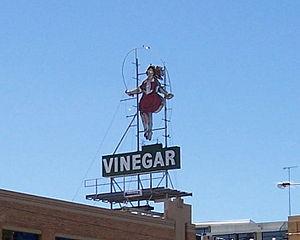 Kilbreda College - The Vinegar Skipping Girl Sign in Abbotsford