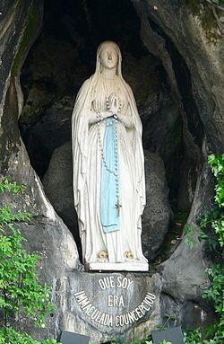 Notre-Dame de Lourdes par Joseph-Hugues Fabisch, 1864.