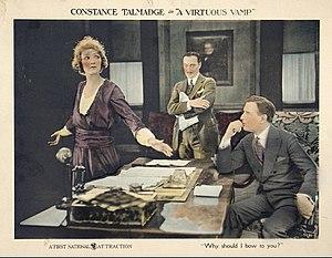 A Virtuous Vamp - Lobby card