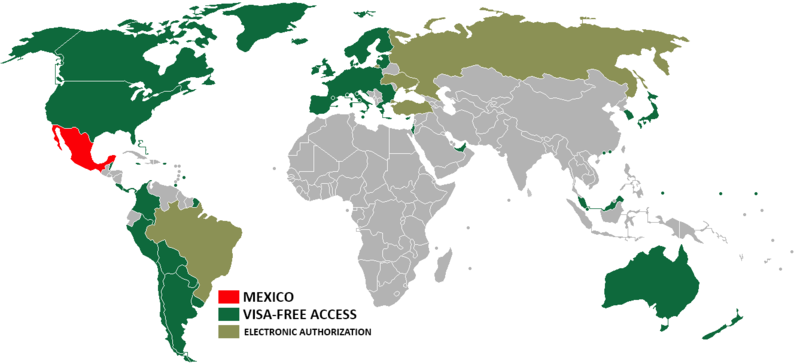 Visa policy of Mexico - Wikipedia