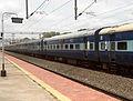 Visakhapatnam - Sainagar Shirdi Weekly Express exits Pithapuram train station 02.jpg