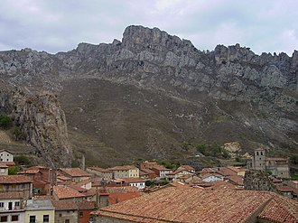 Battle of Pancorbo (816) - Partial view over the town and pass of Pancorbo