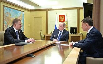 Alexey Dyumin - Image: Vladimir Putin, Alexey Dyumin, Vladimir Gruzdev 02
