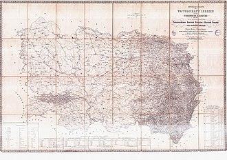Voivodeship of Serbia and Banat of Temeschwar - Map from 1853