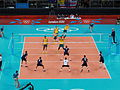 Volleyball at the 2012 Summer Olympics – Men's tournament, GBR vs AUS.JPG