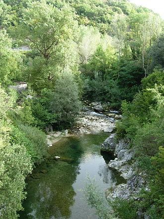 Volturno - The river near Colli a Volturno