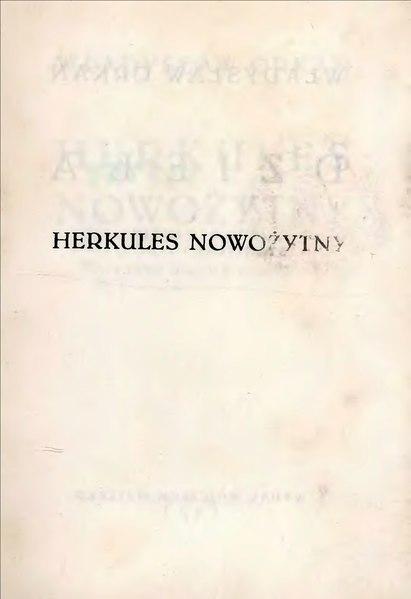 File:Władysław Orkan - Herkules nowożytny.djvu