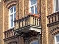 Włocławek-stone balcony of tenement at 5 Kościuszki street.jpg