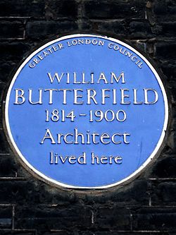 William butterfield 1814 1900 architect lived here