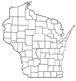 Location of Grover, Wisconsin