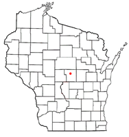 Location of Stevens Point, Wisconsin