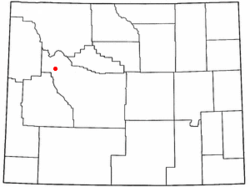 Location of Dubois, Wyoming