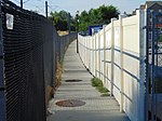 Walkway north from Meadowbrook station, Aug 16.jpg