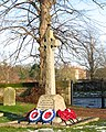 War Memorial by the entrance to All Saints church - geograph.org.uk - 1637795.jpg