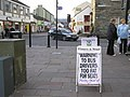 Warning to bus drivers, Keswick - geograph.org.uk - 1530277.jpg