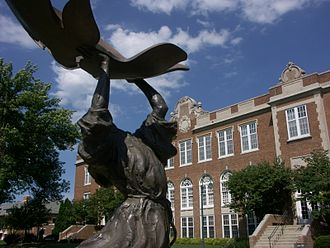 Waverly, Iowa - Statue of St. Francis at Wartburg College