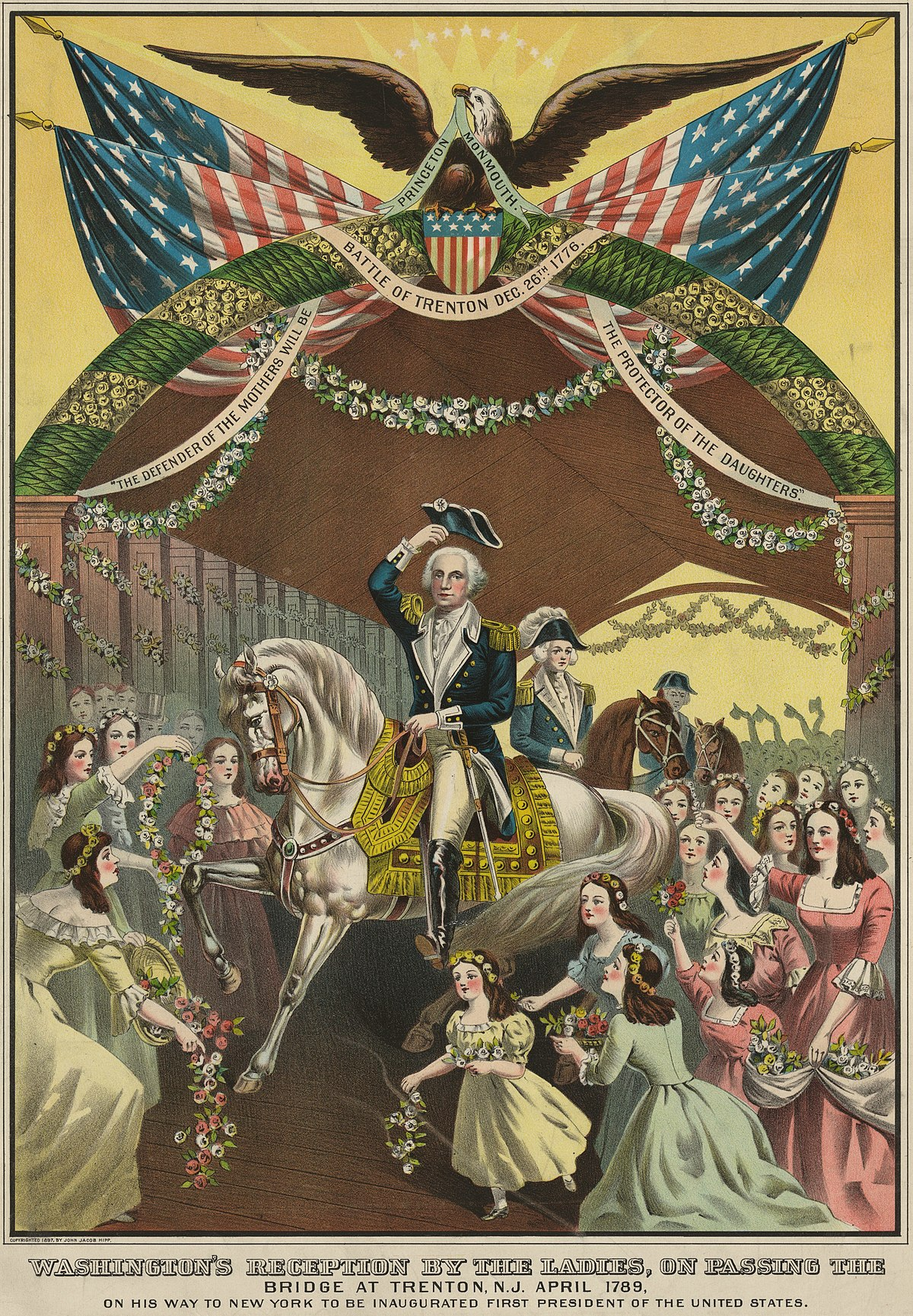 George Washington's Reception At Trenton