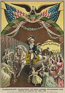 George Washingtons reception at Trenton Event on April 21, 1789
