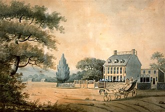 Peacefield - The mansion as it was in 1787 when bought by John Adams
