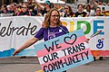 We Love Our Trans Community - Twin Cities Pride Parade 2018 - Transgender Sign (42098722905).jpg