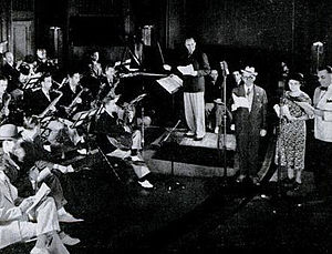 Fibber McGee and Molly - Fibber McGee and Molly with Ted Weems and his Orchestra broadcasting from Chicago in 1937.