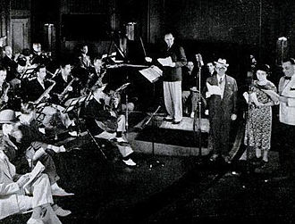Ted Weems - Ted Weems and his Orchestra on the Fibber McGee and Molly NBC Radio show, 1937.