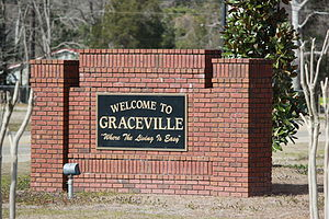 Graceville, Florida - Welcome to Graceville Sign located on HWY 77