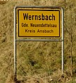 Wernsbach (Neuendettelsau), Ortsschild 2334.jpg