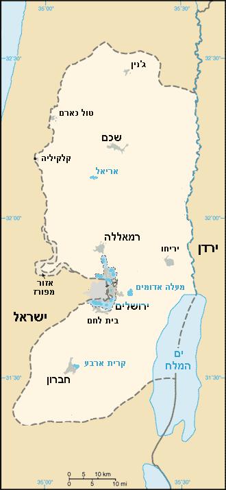 West Bank map he