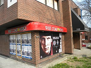 West Coast Video - West Coast Video store in Ottawa.  It was forced to close due to arson, and has no plans to reopen.